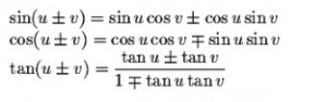 Sum-Difference Formulas