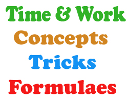 Time & Work Concepts Tricks and Formulaes  Quantitative Aptitude