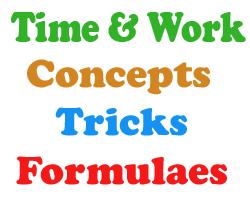 Time & Work Concepts Tricks and Formulaes  Quantitative Aptitude
