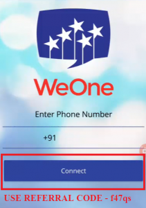 hoe to use weone app