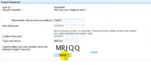 how to get back irctc user name id and password