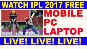 ipl t20 2017 live streaming in pc, laptop, computer