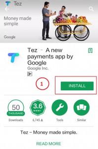how to install google tez app